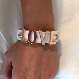 BCBGeneration Love Leather Bracelet